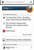 Firefox 6.0 Final -  лис на Android