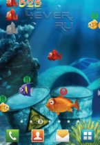 Crazy Fish Live Wallpaper Free - живые обои